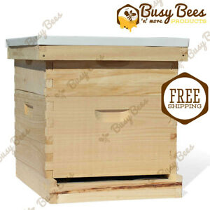 Langstroth Bee Hive 8 Frame 1 Deep 1 Medium includes All Frames
