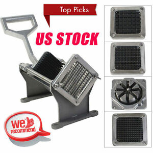 Potato French Fry Fruit Vegetable Commercial Cutter Slicer Cutting W 4 Blades q