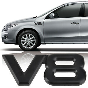 3d Metal V8 Logo Car Emblem Badge Sticker Decal Fit For Toyota Bmw Black