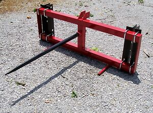 New Tri Universal Mount Front Bale Spear For Loaders