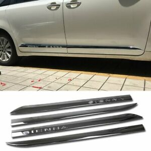 Fit For Toyota Sienna 2013 2017 2018 Chrome Door Body Molding Cover Trim Trims