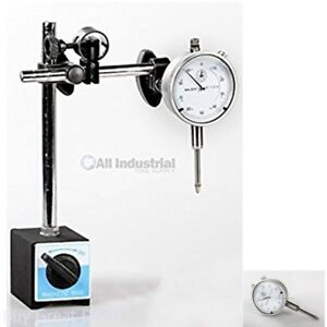 Dial Indicator Set With On off Magnetic Base New