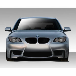 Series E60 1m Look Front Bumper Cover 1 Piece Fits Bmw 5 04 10 Duraflex