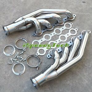 Exhaust Manifold Turbo Headers Up Forward For Chevy Gm V8 Ls Ls1 Ls2 Ls3 Ls6 New