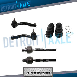 All 4 New Inner Outer Tie Rod End Links Boots Fits 2003 2009 Kia Sorento