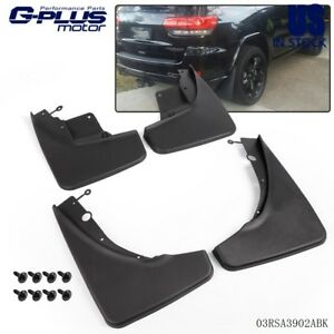 4pcs Front Rear Splash Guard Mud Flaps For 2011 2015 Jeep Grand Cherokee Wk2