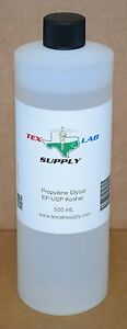 Tex Lab Supply Propylene Glycol pg Nf fcc ep usp 500 Ml Qty 4