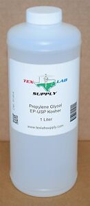 Tex Lab Supply Propylene Glycol pg Nf fcc ep usp 1 Liter Qty 4