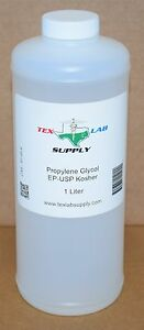 Tex Lab Supply Propylene Glycol pg Nf fcc ep usp 1 Liter Qty 5