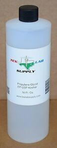 Tex Lab Supply Propylene Glycol pg Nf fcc ep usp 16 Fl Oz Qty 5