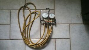 Yellow Jacket Ritchie Test And Charging Manifold Gauges R12 r22 r502 Used