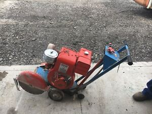 Champion Concrete Walk Behind Saw 14 10 Hp Briggs And Stratton Runs Great