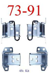 73 87 Chevy 4pc Upper Lower Door Hinge Assembly Kit Gmc Truck 88 91 Crew Cab