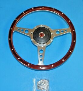 New 13 Wood Steering Wheel And Adaptor For Mgb 1970 76 Mg Midget 1970 77