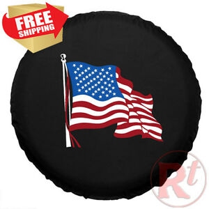 R17 Jeep Rv Liberty Wrangler Wheel Tire Cover With Beautiful American Flag Logo