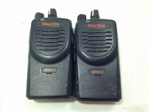 Lot Of 2 Motorola Mag One Bpr40 Aah84kds8aa1an 8ch Missing Antennae Vhf As is