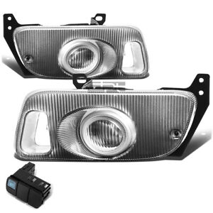 For 1992 1995 Honda Civic Coupe Hatchback Fog Light Lamps W Switch Wiring Clear