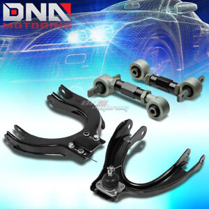 For 88 91 Civic crx Ed ee Black Front rear Camber Control Suspension Kit arm bar
