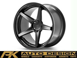 20 Ferrada Fr3 Black Concave Wheels Rims Fits Jaguar Xkr