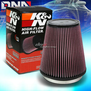 K n Ru 3050 Round Tapered Cotton Gauze 6 id 8 height Air Intake Piping Filter
