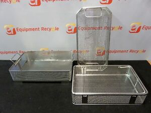 Aesculap Sterilization Tray Autoclave Inside Rack Surgical Instrument Lot Of 3