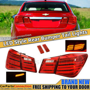 Rear Led Tail Lights For 2011 2015 Chevrolet Cruze Mb Style 4 Door Sedan