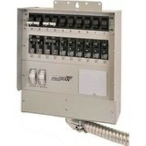 510c Pro tran2 50 amp 10 circuit2 Manual Transfer Switch With Watt Meters