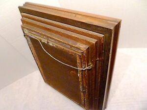 14 X 12 1800s Victorian Eastlake 4 Step Deep Frame Gilded Liner Ebonized Wood