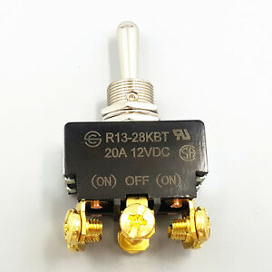5pcs Sci R13 28kbt on off on Metal Lever Dpdt Momentary Car Toggle Switch