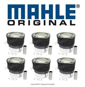 For Porsche 911 2 3l 2 4l 2 7l Set Of 6 Engine Pistons Cylinders Mahle 5036092