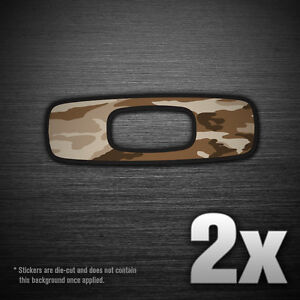 2x 5 Oakley Square Camo Logo Vinyl Sponsor Decal Sticker Sunglasses Car Truck