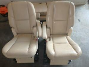 07 14 Cadillac Escalade 2nd Row Rear Serr Tan Leather Chevrolet Gmc Second