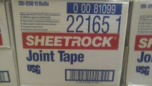 Us Gypsum 382175020 Paper Drywall Joint Tape 2 1 16 X 250 Pack Of 20