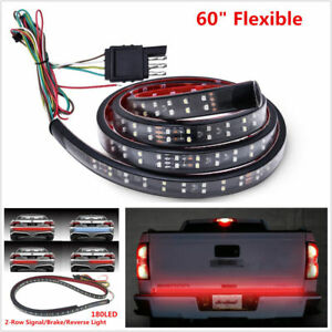 60 Trunk Tailgate Red White Led Light Bar For Reverse Brake Turn Signal Tail Ic