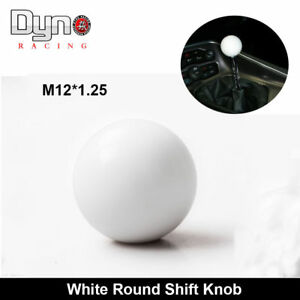 White Gumball Shift Knob For Hurst Short Throw Gear Shifter Selector