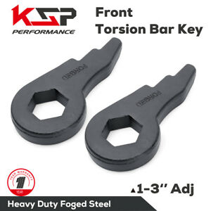 Torsion Bar Keys Forged Lift Kit 1 3 Silverado Sierra 1500 2500 3500 Hd 8 Lug