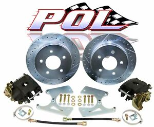 Gm 10 12 Bolt Rear Disc Brake Conversion Kit Free Zinc Plating On Rotors