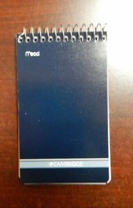 Mead Cambridge Writing Pad 3 X 5 Small Memo Book Wirebound Notebook 70sheet