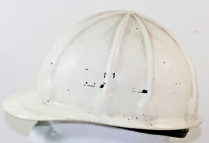 Vintage Superflex Fibre Metal White Hard Hat Usa Union Made Plastic 1970 s