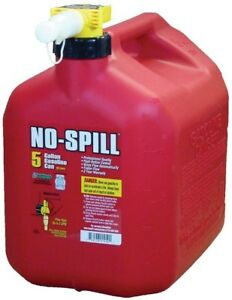 No Spill No spill Fuel In 5 Gal Poly Gas Can For Refueling Emergency Safe New