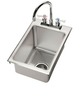 Krowne Metal Hs 1425 One Compartment Drop in Hand Sink