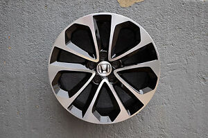 Honda Civic Si Fits 18 Inch Black Machined Rims Set Of 4 Rims