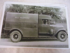 1932 International Bell Telephone Truck 11 X 17 Photo Picture