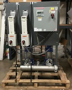 Xylem Vertical Multistage Duplex Water Booster 350 Gpm 89 Psi Grundfos Cr32
