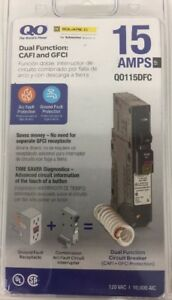 new Square D By Schneider Electric Qo 15 Amp Single pole Dual Function