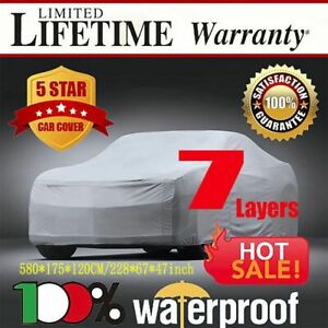 Full Car Cover Waterproof Outdoor Sun Uv Snow Dust Rain Resistant Protection As