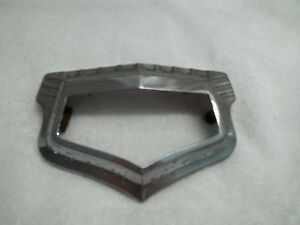 1949 Buick Front Of Hood Chrome Emblem Bezel