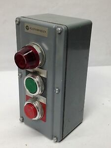 Allen Bradley 800t 2tar Push Button Station Panel W 800t q10 Ser T 120v 800t a