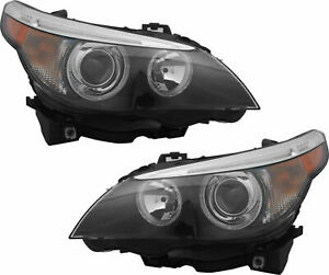 Bmw 5 Series 2004 2007 Hid Xenon Headlights Head Lights Front Lamps Pair