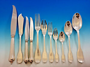 Noailles By Puiforcat French 950 Sterling Silver Flatware Set Service 240 Pieces